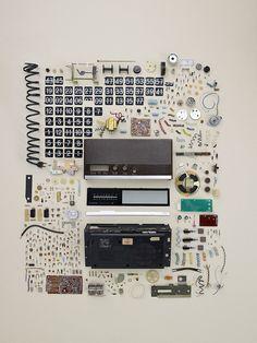 Old Flip Clock - Disassembly by Todd Mclellan via designboom #Photography #Disassembly #Todd_McClellan