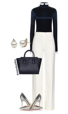 """""""'A Classy Day at the Office'"""" by iwillmakeithappen ❤ liked on Polyvore featuring Thom Browne, Diane Von Furstenberg and Christian Louboutin"""