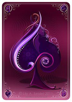 Purple spade