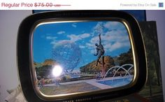 "Everythings On Sale New York World's Fair 1964-65 Large 8""x11""Serving Tray Unisphere Free Shipping"