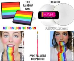 Recreate the Snapchat Rainbow Filter Halloween costume for only $15.99…