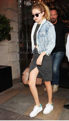 7 times Gigi Hadid wore white platform sneakers and owned it: