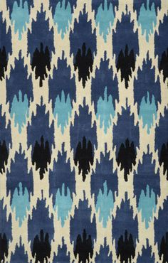 nuLOOM Hand Tufted Wool Amos Ikat Rugs | Contemporary Rugs