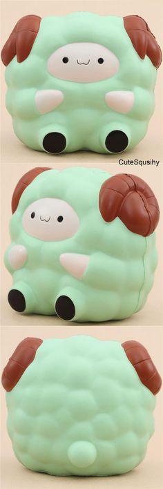 Kawaii green sheep squishy!