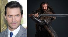 Richard Armitage as Thorin Oakenshield- only one of the two guys as of now that I prefer with long hair, and I usually hate long haired guys.
