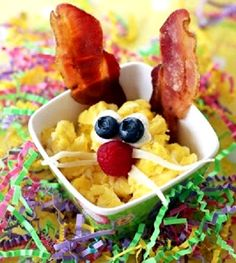 Scrambled Egg and Bacon Bunny