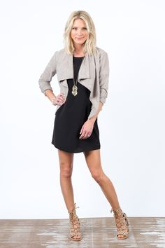 Evereve - Kendra zip back tunic dress This may not fit me right, but I love this look, minus the laceup shoes!