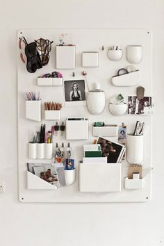 Wall Organizer http://blogof.francescomugnai.com/2013/04/22-smar-and-useful-organizing-solutions-for-your-house-or-office-you-can-buy-today/