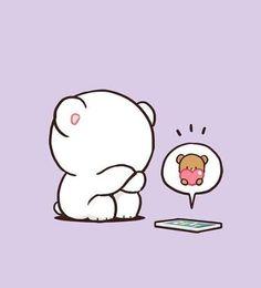 Cute Cartoon Images, Cute Love Cartoons, Cute Cartoon Wallpapers, Cute Bear Drawings, Cute Kawaii Drawings, Cute Panda Wallpaper, Cute Disney Wallpaper, Sweet Couple Cartoon, Cute Anime Cat