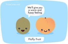 #FunnyFriday #WeKnowFruit #Peach #Kiwi