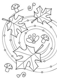 Coloriage de feuilles d'érable, coloriage de feuilles d'automne à imprimer