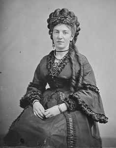 Matthew Brady photo Mrs. A. Springer, dated between 1860-1865 Source NARA via Flickr Commons