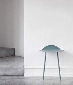 Danish design brand Menu has started producing this two-legged side table that rests against the wall by Taiwan designer Kenyon Yeh