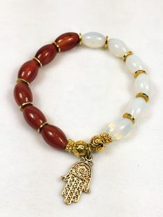 Brown and White Bracelet