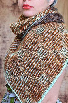 Brioche Tiles pattern by Susanne Sommer – Hand Knitting Knitting Stitches, Knitting Patterns Free, Hand Knitting, Freeform Crochet, Knit Crochet, Crochet Baby Sweater Pattern, Shawl Patterns, Mosaic Patterns, Knit Wrap