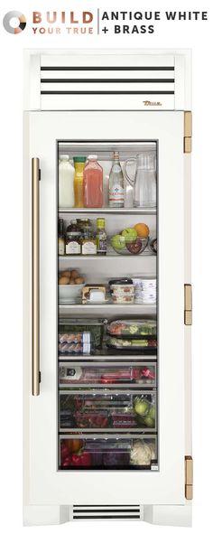 I designed a custom Glass Door Refrigerator Column on the True Residential website! Glass Front Refrigerator, Undercounter Refrigerator, Best Refrigerator, Side By Side Refrigerator, Glass Fridge, Kitchen Pantry, Kitchen Appliances, Kitchen Ideas, Kitchen Reno