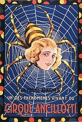 Vintage French Freak Show Spider Woman Circus Poster Print A3//A4