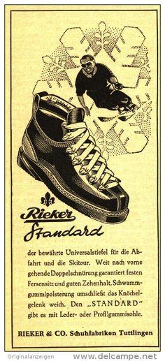 Original-Werbung/ Anzeige 1950 - RIEKER SCHUHE / TUTTLINGEN - ca. 65 x 120 mm