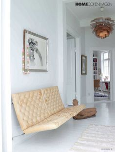 obsessed with this wall mounted sofa!