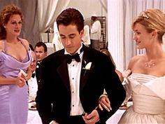 My Best Friend's Wedding (1997) Our hearts ached for Julianne Potter (Julia Roberts) in My Best Friend's Wedding, but we still couldn't take our eyes off the blushing bride (Cameron Diaz)