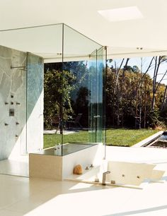 Modern Bathroom by Carole Katleman Interiors and Swift Lee Office in Los Angeles, California