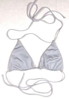 e1724450af25e SOMMER Swim Light Gray Triangle Bikini Top size M Bathing Suit Swimsuit # fashion #clothing