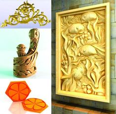 3D Art Collection Vector File, Vector Art, Picture Headboard, Clock Wallpaper, Gold Photo Frames, Cnc Engraving Machine, Chinese Patterns, Decorative Screens, Wood Carving Patterns