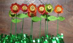 flor surpresa de papel para o dia das maes