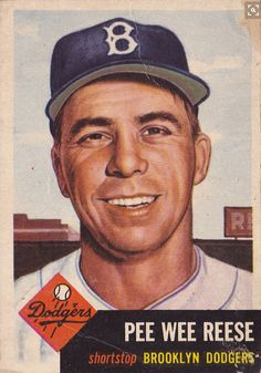 Detailed guide to the best Pee Wee Reese cards of all-time. View images and buying guide for key options, including top vintage, autographs & rookie cards. Old Baseball Cards, Baseball Art, Dodgers Baseball, Football Cards, Baseball Players, Baseball Movies, Dodgers Girl, Baseball Quotes, Dodgers Nation