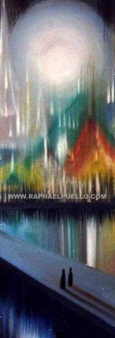 PEREGRINACIÓN AL TEMPLO DE LA LUZ.DETALLE. {PILGRIMAGE TO THE TEMPLE OF LIGHT} DETAIL.DETALLE. WWW.RAPHAELPUELLO.COM/OLEO/OBRA ABSTRACTA/LA NATURALEZA