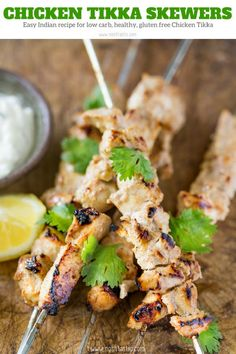 Easy Chicken Tikka, this authentic favorite Indian Restaurant recipe is so simple to recreate at home, you'll be blown away by the aromatic flavors! If you love Tandoori Chicken you'll love this recipe, they are very similar. #Indianfood #indianrecipe #tandoorichicken #tandoori #lowcarb #keto #chickenrecipe #chickenskewers #keto #glutenfree