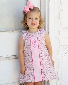 Daisy floral sleeveless dress with ruffle neck. Cute Baby Girl Outfits, Dresses Kids Girl, Kids Outfits Girls, Cute Outfits For Kids, Little Dresses, Toddler Outfits, Toddler Dress, Baby Dress, Frocks And Gowns