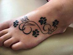 Tatoos by Kris Meine Tattoos idde Tattoos Skull, Back Tattoos, Dog Tattoos, Animal Tattoos, Body Art Tattoos, Tatoos, Pretty Tattoos, Beautiful Tattoos, Tattoos For Women Small