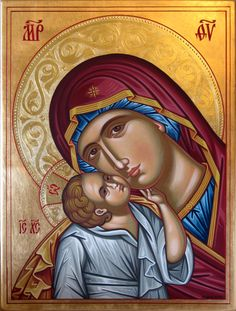 Glykofilusa by marioim on DeviantArt Religious Icons, Religious Art, Our Lady Of Rosary, Greek Icons, Paint Icon, Jesus Christ Images, Queen Of Heaven, Mama Mary, Inspirational Bible Quotes