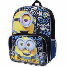 Despicable Me Minions Bob and Kevin Backpack and Lunch Tote Set Eye-Cons   Disney f2b69991b9