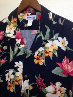 adba3b42 Vintage Aloha Line Hawaiian Shirt men's XL by twinflamesboutique Hawaiian  Print, Kimono Shirt, Tropical