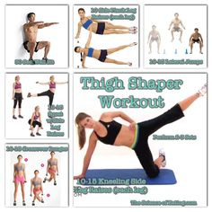 These exercises can help tighten the muscles on the outside of the thighs, giving you the look of long, lean legs. Cardio can help get this look but only toning moves combined with cardio can truly sculpt your legs into your own personal work of art. To add a little cardio to this workout start and end with a 15 minute jog or brisk walk!