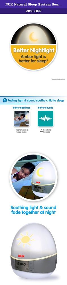NUK Natural Sleep System Sound and Light Machine. The NUK family of brands design and develop superior products that enhance your child's overall development. By combining years of expertise and trust, we are committed to nurturing your children's healthy transitions from birth to toddler. We have worked for over 50 years to design the highest quality products that are innovative and scientifically-proven to support safe and healthy development. Backed by a dedicated team of experts, our...