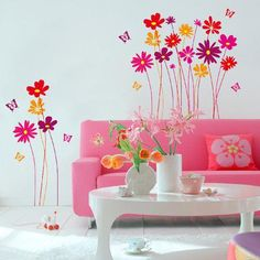 Brewster Home Fashions Euro Flower Meadow Wall Decal