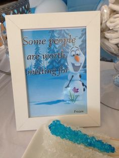 Disney Frozen Birthday Party Ideas | Cute sign at a Frozen Birthday Party! See more party ideas at ...