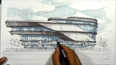 architectural sketching pavillion 1