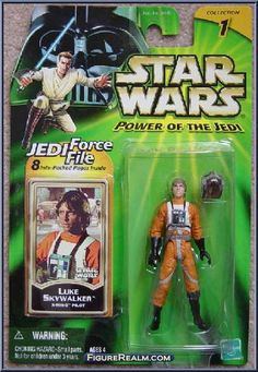 Luke Skywalker (X-Wing Pilot) from Star Wars - Power of the Jedi - A New Hope manufactured by Kenner [Front]