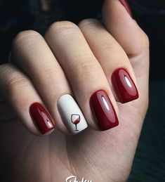 red nail designs Do you get overwhelmed when choosing your manicure We have gathered 50 best cute nail designs suitable for every nail shape to help you choose your favorite.No matter the occasion, try one of the 50 cute nail designs below. Heart Nail Designs, Red Nail Designs, Simple Nail Designs, New Year's Nails, Red Nails, Red And White Nails, Red Nail Art, Ongles Or Rose, Wine Nails