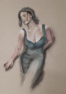 Model in green dress - pastel (2020) Green Dress, Game Of Thrones Characters, My Arts, Pastel, Model, Fictional Characters, Cake, Green Gown