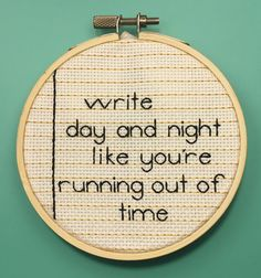 A note page in Hamilton colors, this embroidered Non-Stop quote from Hamilton the Musical is a great addition to any fans collection!    Aida Cloth: 16-ct Off-White  Hoop: 4 diameter  * The back of the hoop is closed and finished with off-white aida cloth.   FREE SHIPPING on any additional items you add to this order