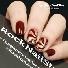 50 Luminous Red and Gold Nail Designs ❤️💅💛 - Be Modish No Chip Polish, No Chip Nails, Red And Gold Nails, Silver Nail Art, Gold Nail Designs, Glitter Eye Makeup, Sexy Nails, Beautiful Lips, Lip Art
