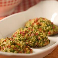 Bolinho assado de arroz com ervas light - #Receitas #Culinaria #Nutrição