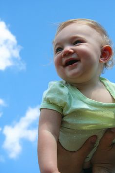 Baby Fun!! Great photo idea on a nice day!