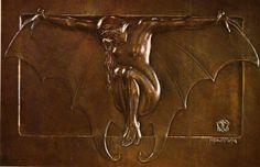 Marco Tobon Mejia VAMPIRESA. Bronce. 18.5 x 27 cms. 1930.Colección Particular. Bogotá. Libro MTM. Museo de Arte moderno de Bogotá. Agosto 1986.