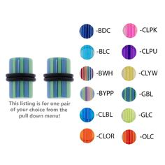 UV Layered Plugs with O-Rings - Lex and Lu Body Jewelry